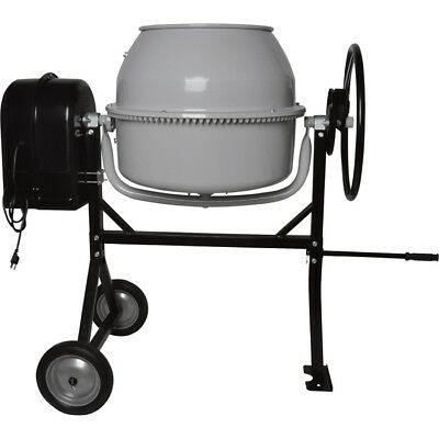 Klutch Portable Electric Cement Mixer —  4.1 Cubic Ft. Drum