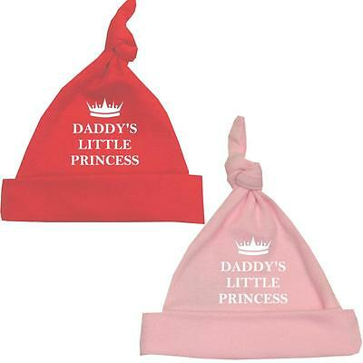BabyPrem DADDY'S PRINCESS Girls Hat Premature Neonatal Tiny Baby Clothes