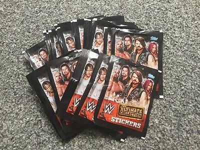TOPPS WWE The Ultimate Collection Stickers Full Box 40 Packets