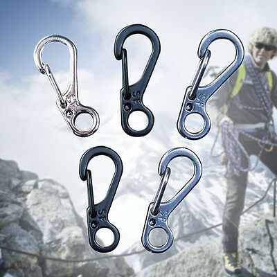 5× Mini EDC Gear Key Rings Spring Buckle Paracord Accessories Carabiners Pop