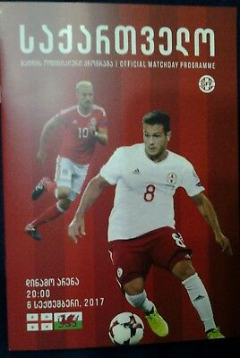 GEORGIA v WALES 6/10/2017  OFFICIAL PROGRAMME