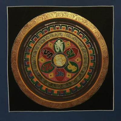 Original Handpainted Tibetan Chinese Mandala Thangka Painting Meditation Art b13