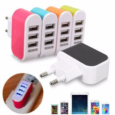 Universal 3.1A 3 Port USB Wall Fast Charging Charger Adapter for iPhone/Samsung