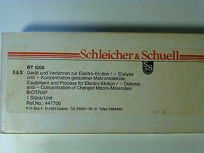 Schleicher & Schuell  BT1000 Biotrap (now GE/Whatman Elutrap) with membranes