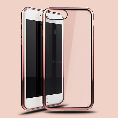 For iPhone 8 Case Crystal Clear Soft TPU Gel Shockproof Cover for iPhone 8 Plus