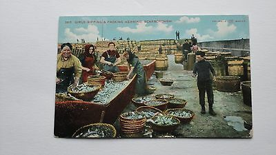 POSTCARD Packing Herring Scarborough