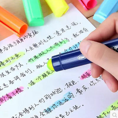Colorful fluorescent Plastic Pen Student Office Stationery Gifts Color Random