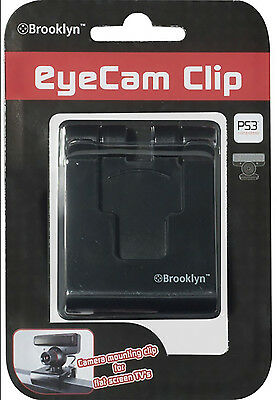 PS3 Universal EyeCam Clip for Flat TVs by Brooklyn   Model: PS3M004     Features