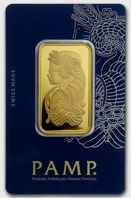 1 oz. Gold Bar - PAMP Suisse - Fortuna - 999.9 Fine in Sealed Veriscan Assay