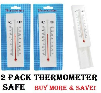 2-PACK Thermometer Diversion Hidden Wall Safe Secret Compartment For Cash & More
