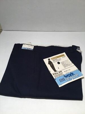 NWT Sears Work Leisure Blue Pants 36 X 31 Vintage '70s Full  Fit NEW