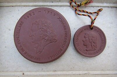A couple of old commerorative coins(Joahn friedrich bottinger)iventor of ceramic