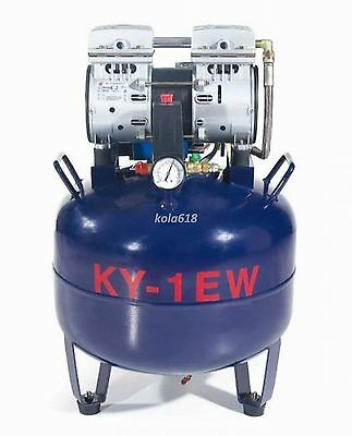 1pc One Driving One 32L Medical Noiseless oilless Dental Air Compressor CE KOLA