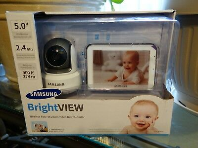 """Samsung SEW-3043W BrightVIEW Baby Monitor 5"""" Touch Screen Video Cam Camera"""