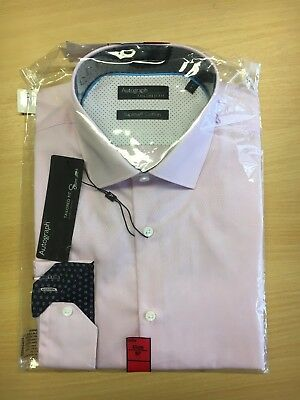 M & S Autograph Pink Supima Cotton Tailored Fit Size 16 Shirt RRP £35