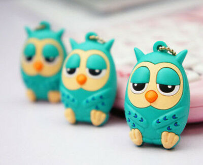 Korea Owl Pink Blue Phone Charm 3.5mm Jack Dust Stopper Plug Blue