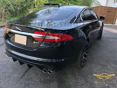 Jaguar X250 Xf Two Piece XRFS Style Diffuser Valance Stainless Quad Tips 08 - 15
