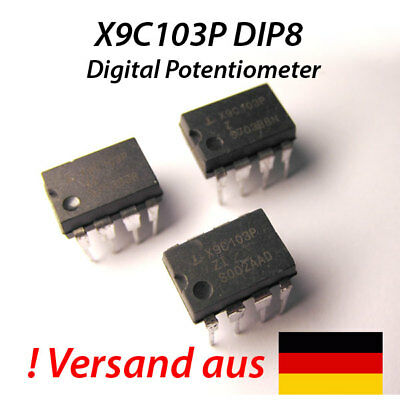 X9C103P DIP8 Digital Potentiometer 10K