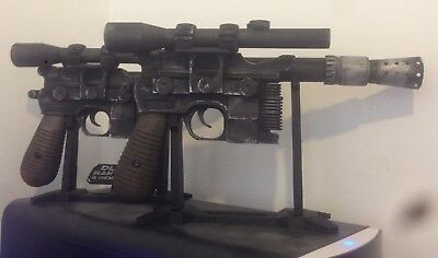 Dl-44 Han Solo Blaster And Stand - Star Wars - 3D Printed - Cosplay - Prop