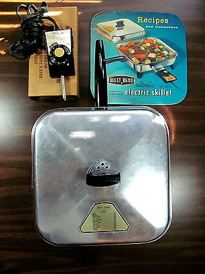 West Bend Electric Skillet 3590E Recipes Book 1150 Watts Gently Used Immersible