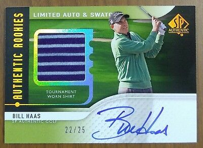 2012 Sp Authentic Bill Haas Shirt Rookie Swatch Auto  22/25  Ssp