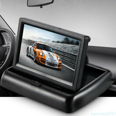 """4.3"""" Foldable TFT LCD Display Car Reverse/Rearview/Parking Color' Monitor Screen"""