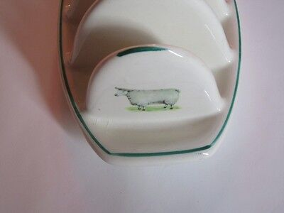 Charming Vintage Sheep Motif Toast Rack