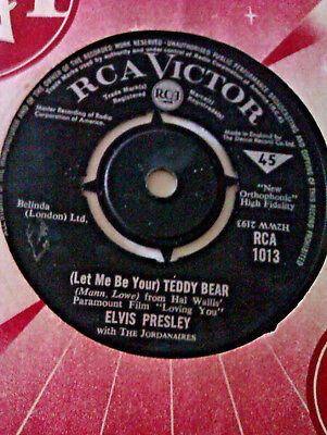 L@@k Elvis Presley ( Let Me Be Your ) Teddy Bear / Loving You. Rare Rca Victor