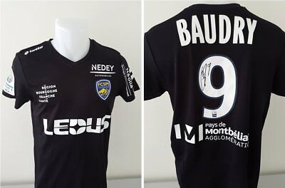 Maillot FCSM Hommage BAUDRY signé n°9 ROBINET