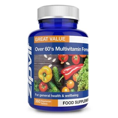 Multi Vitamins For Over 60 Tablets - 25 Essential Vitamins and Minerals
