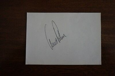 Arnold Palmer signed Album page