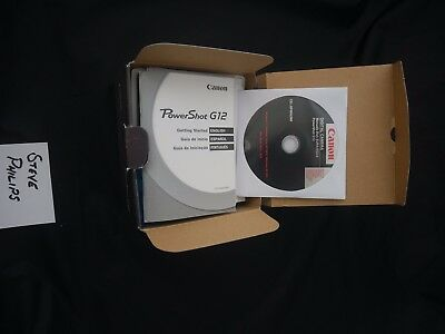 Canon Powershot G12 BOX and Accesories ONLY