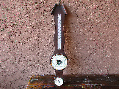 Vintage Hygrometer Thermometer For Decoration Only Wood