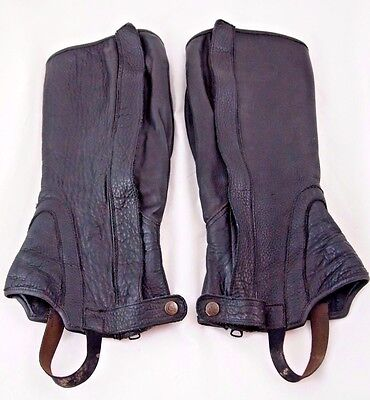 Grand Prix Half Chaps Adult Used Black Leather  Clf 15 H 15