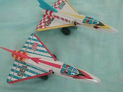 Tin Toy Jets Made in Japan