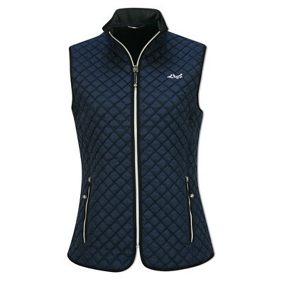 Rohnisch Quilted Gilet with Windproof Lining in Navy