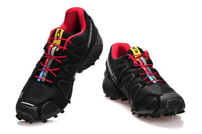 Men's Salomon Hiking Shoes Speedcross 3 Sports Outdoor Black red US SIZE
