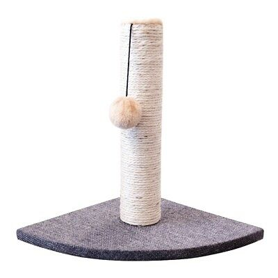 Cat kitten Corner Scratching Post Pole Fun Play Climbing Hard Wearing Sisal
