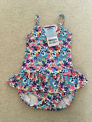 jojo maman bebe floral nappy Swimsuit age 2-3 Years Bnwt