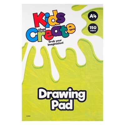 A4 Kids Create White Colour Paper Pad 150 Sheets Drawing Art Craft