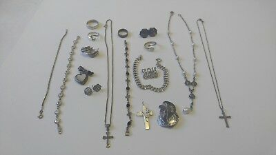 Sterling Silver Jewelry Lot Vintage. ::93grams