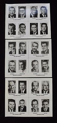 1960s NFL Football Announcers Photo Set w Gifford Nahan Summerall (3)