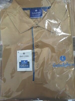 Godolphin Polo Shirt Horse Racing Blue New Small Fly Emirates