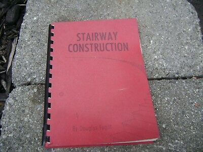 Vintage wooden   stair construction manual book 1968