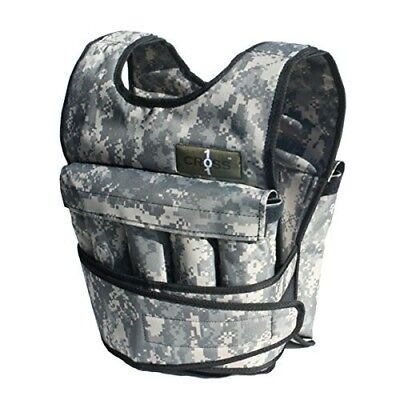 (18kg) - Cross101 Adjustable Camouflage Weighted Vest with Shoulder Pads