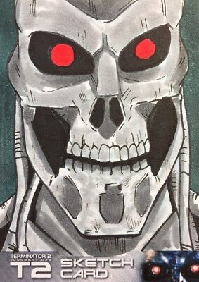 Terminator 2 Sketch Card By J Hammond Unstoppable Cards