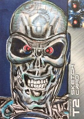 Terminator 2 Sketch Card By Lily Mercado Unstoppable Cards