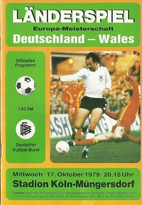 WEST GERMANY v WALES  1979