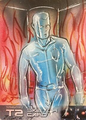 Terminator 2 Sketch Card By Bianca Thompson Unstoppable Cards