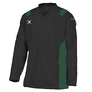 Gilbert Rugby Adult Revolution Warmup Top - Black/Green